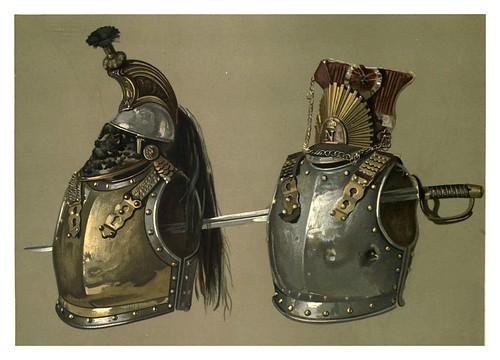 011-corazas cascos y espada de la batalla de Waterloo-Abbotsford…1893-ilustrado por William Gibb