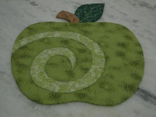 jogo americano maçã verde by Mila Lacerda