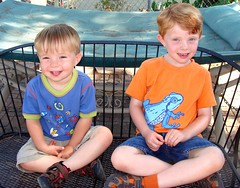Grandsons seated, posing (Martin LaBar) Tags: boys smiling posing grandson grandsons