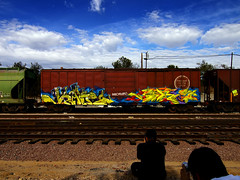 JRAFE  ABLE (TRUE 2 DEATH) Tags: street railroad sky streetart art clouds train graffiti tag graf trains railcar spraypaint boxcar railways railfan freight villains able freighttrain rollingstock benching freighttraingraffiti jrafe benchingbenchersbenching