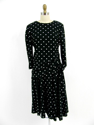 VINTAGE 80's POLKA DOT DRESS