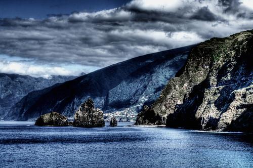 Cliffs. Acantilados. Ribeira de Janela. Madeira. Portugal