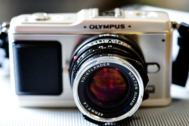 Olympus EP-1 with Nokton Voigtlander 40mm f/1.4