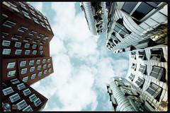 Archisky (Jrg Dickmann Photography) Tags: leica sky architecture buildings rangefinder wideangle gehry architektur dusseldorf dsseldorf 15mm duesseldorf voigtlnder m9 heliar neuerzollhof medienhafen superwide