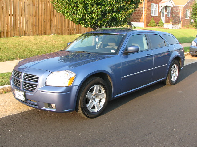 blue car wagon dodge magnum 2007 kopper sxt