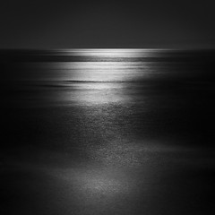 Pacific Moonlight (Mike Roslek) Tags: california bw moon seascape santabarbara square minimal moonlight goleta campuspoint goletapoint