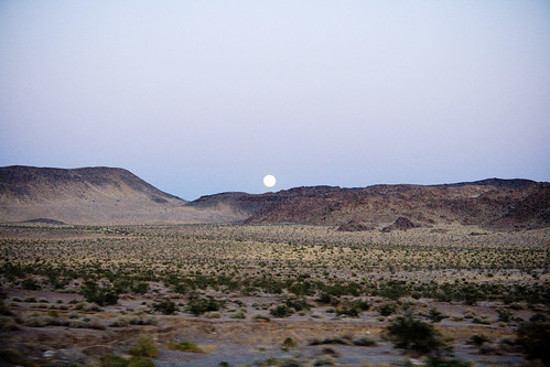 Moon Rise over Desert