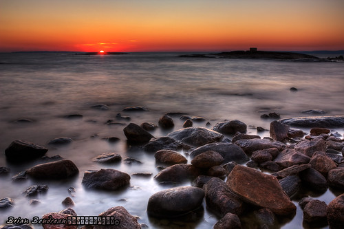 Sunset On The Rocks ::HDR