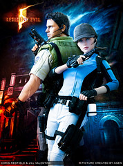 CHRIS & JILL POSTER (AGEN_BOOMBERSMITH) Tags: chris hot poster toys action jill 5 evil valentine figure biohazard resident redfield
