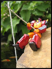 Fishin' (Broken Forge Photography) Tags: hot fishing action transformers figure rod rodimus revoltech