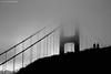 morning at the golden gate (dorsalfin) Tags: sanfrancisco california bridge blackandwhite bw fog landscape goldengatebridge goldengate desaturated dorsalfin onlythebestare