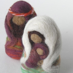 Holy Family (BeneathTheRowanTree) Tags: christmas baby wool children joseph handmade mary jesus creche nativity needlefelted
