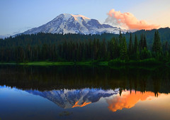 Good morning from Mt. Rainier (Deby Dixon) Tags: morning travel mountain lake color reflection tourism sunrise photography volcano washington nikon paradise sightseeing glacier explore cascades reflectionlake wilderness mtrainier frontpage deby allrightsreserved 2010 travelphotography mtrainiernationalpark debydixon geotourism debydixonphotography visitrainier