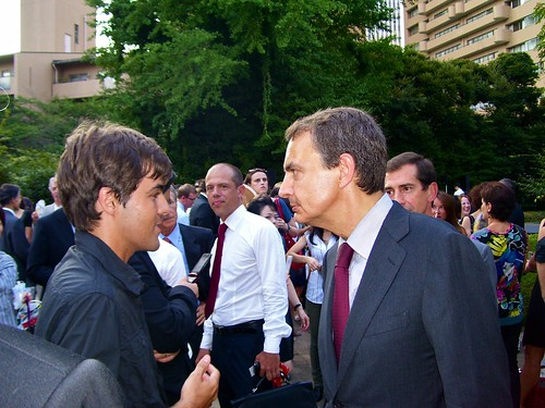 Con Zapatero en Japón