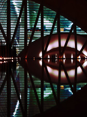 flip (duboramic) Tags: valencia kalatrava reflection symmetry artes sciencias water lake pool futuristic chill night lights shot