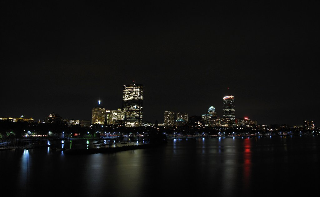 ['Boston.', ' by night']