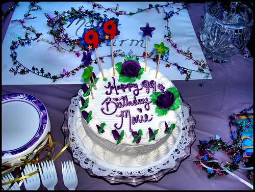 Marie's 99th Birthday Cake