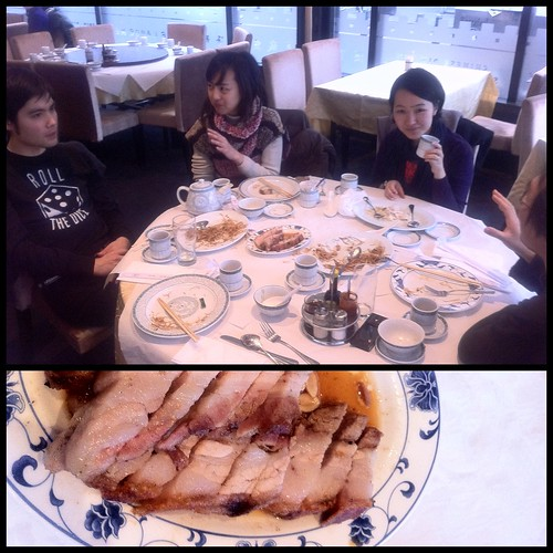 Chinese New Year's Eve lunch with Japanese folks