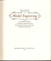 Harris, The Art of Medal Engraving