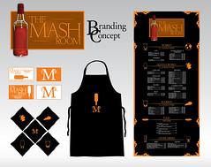 The Mash Room - Full Branding Concept (Jordan.A.) Tags: food beer bar menu logo typography design graphicdesign vectorart drink whiskey mashroom apron businesscards card alcohol napkins whisky illustrator scotch bourbon vector branding designers logodesign adobeillustrator menudesign brandingconcept illustratorcs5