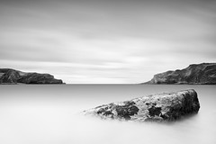 Moments stood still - Lulworth Cove, Dorset, England (Pipall) Tags: uk sea england bw white seascape motion black blur west monochrome clouds speed canon lens eos coast rocks long exposure slow angle cove tripod wide cliffs minimal tokina dorset nd shutter milky 1224mm f4 minimalist manfrotto lulworth ballhead 322rc2 10stop 400d nd110 rebelxti 190xprob
