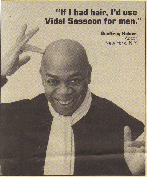 Vintage Ad #1,411: Praise for Vidal Sassoon Products (4)...if he had hair