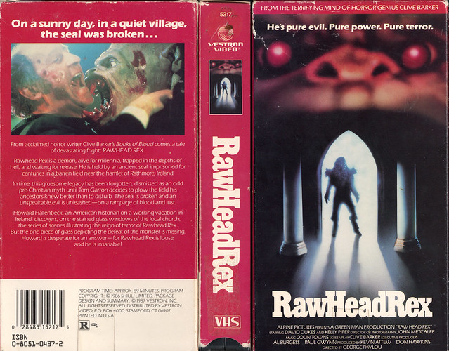Rawhead Rex (cover 3) (VHS Box Art)