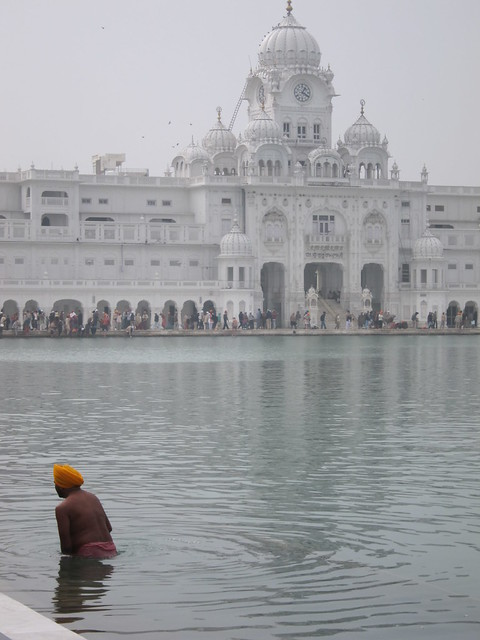 Golden Temple bather