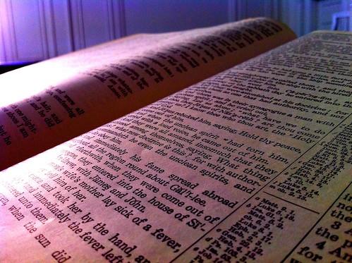 Bible in Estes Chapel