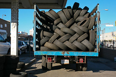 Used tires (ADMurr) Tags: urban canon la automobile tires trucks recycle
