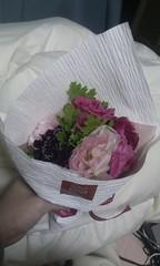 昨日いただいた花束(生花)を生ける花瓶が見当たらなくて悩んでいる。綺麗だし飾りたい。