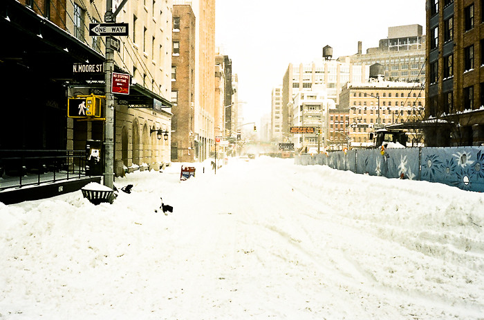 NYC Winter Scene @ Tribeca, NYC
