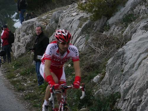 David Moncoutié - 800m de l'arrivée Tour Med au Faron - Toulon  - février 2011 - P1000441