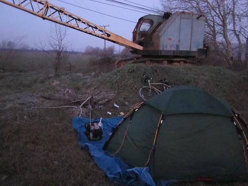 Crane campsite
