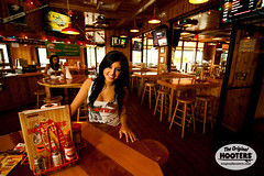 What a smile (originalhooters) Tags: food tampa wings florida hooters brooke fl waitress filming serving channelside meetahootersgirl