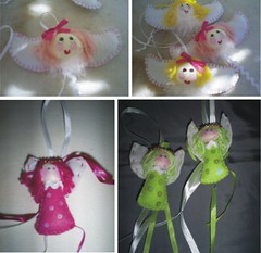 anjinhos (Baby e Keridinha) Tags: cupcake fuxico bebê feltro anjos anjinho tecido enfeite bolinhos retalho patwork colchonete colchaderetalho