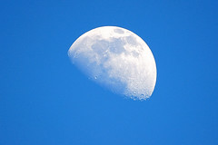 Blue Sky and Moonshine (John Petrick) Tags: moon lasvegas bluesky luna d90 daymoon daytimemoon 14teleconverter lasvegasmoon blueskymoon 150500 sigma150500mm blueskyandmoon mooninbluesky moonoverlasvegas inabluemoon blueskyandmoonshine mooninfebruary2011