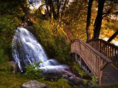 Rivière des Aulnaies. (gaudreaultnormand) Tags: bridge cascadeautomne pont river rivière waterfall
