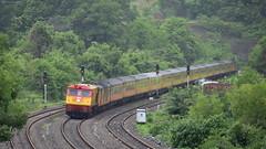 22119 Mumbai - Goa Tejas Superfast Express powered by Kalyan WDP3A 15535 (Omkar Sawant) Tags: 22119 mumbai goa tejas express kalyan wdp3a 15535 konkan railways india