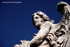 contrasti (Ecinquantotto ( + 1.180.000 grazie !! )) Tags: architettura architecture art arte angel angels angeli colori colors castelsangelo d3000 dream italia italy marmo nikon nikond3000 spqr rome roma