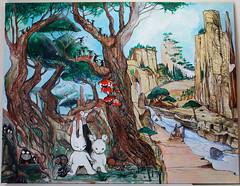river 7 (mc1984) Tags: mc1984 river wood painting canvas rabbit aroles nature
