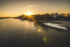 A summery boat trip (Toukensmash) Tags: summery summer boat trip danube bratislava slovakia water sunstar sunlight sunset lensflare ship cityscape nautical vessel vibes sony alpha58 sigma1020 river view riverside traveling faded shadows sun light split toning journey city donau