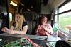 Ashleigh and Mum making Scoubidous (ec1jack) Tags: ec1jack kierankelly canoneos600d france provence europe eu june 2017 southoffrance summer scoubidou strings eurostar trains making travel transport premierstandard