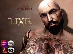 ..ELIXIR.. JALIL Beard Bento V1.01 (julieabd) Tags: bento goatee mustache tattoo beard facial mesh head applier catwa adam logo gaeg akeruka omega