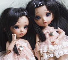 Twins (~Akara~) Tags: bjd ball jointed doll fairyland fairy land fl pukifee puki fee pkf mio luna tan skin ts custom faceup face up twin twins sisters sister