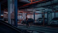 355/365 Fear (Katrina Y) Tags: selfportrait artsy art cinematic mood fear parking woman voyeur 2017 365project car conceptual creative concept