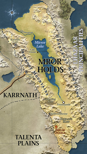 Map of Mror Holds