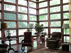 A corner of Rudin House living room, Madison (ali eminov) Tags: architecture buildings houses rudinhouse architects franklloydwright madison wisconsin windows