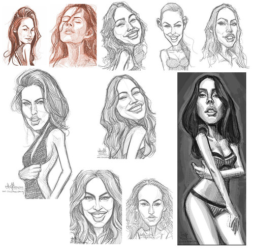 Megan Fox sketch studies small