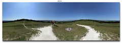 Kingley Vale. (laluzdivinadetusojos) Tags: trees england panorama west nature sussex 360 vale r yew tumulus kingley